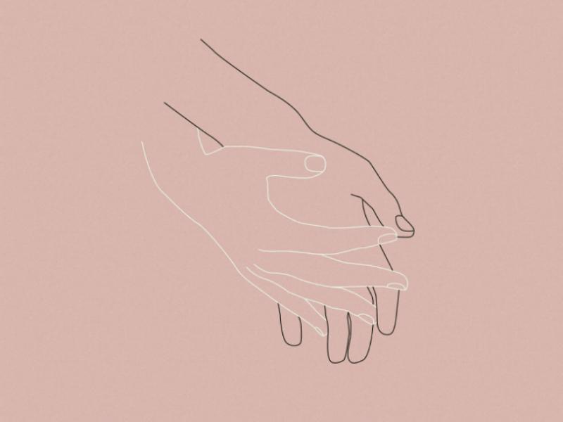 hands tenderness graphic design vector line artwork touch illustration design art minimalism hands line art