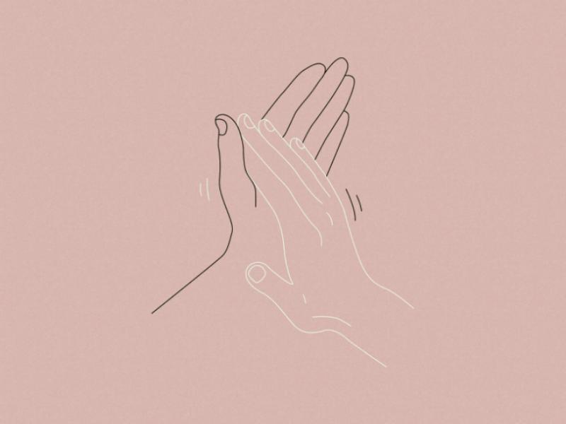 Give me five vector minimalism design art illustration line art hands