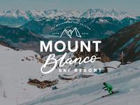 Ski Resort Hand Lettered Logo