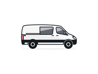 Sprinter Van Vector Illustration