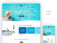 Business Landing Page Pool Theme - Download