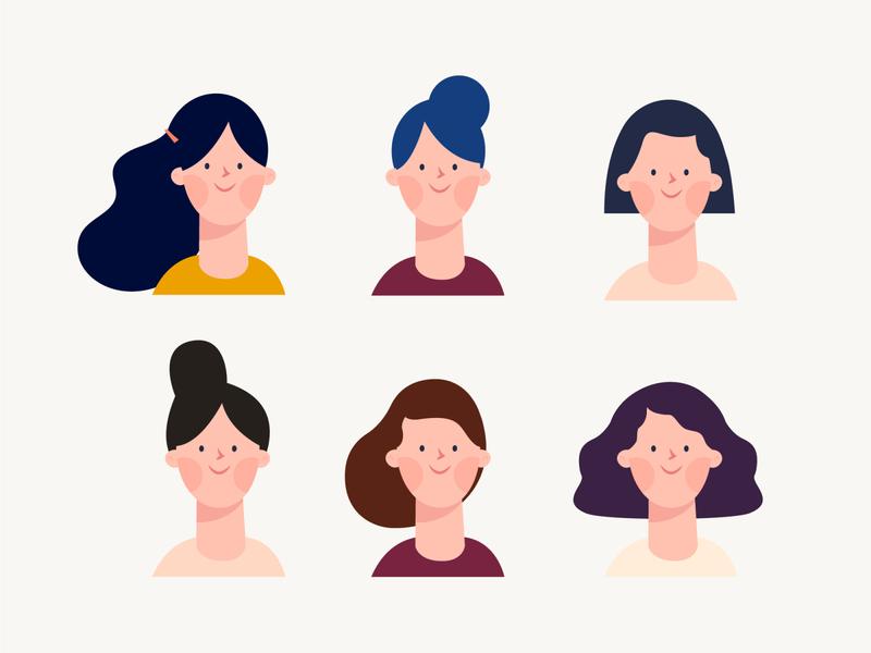 Character design girl illustration girl character girl people diseño vector design illustration characters design