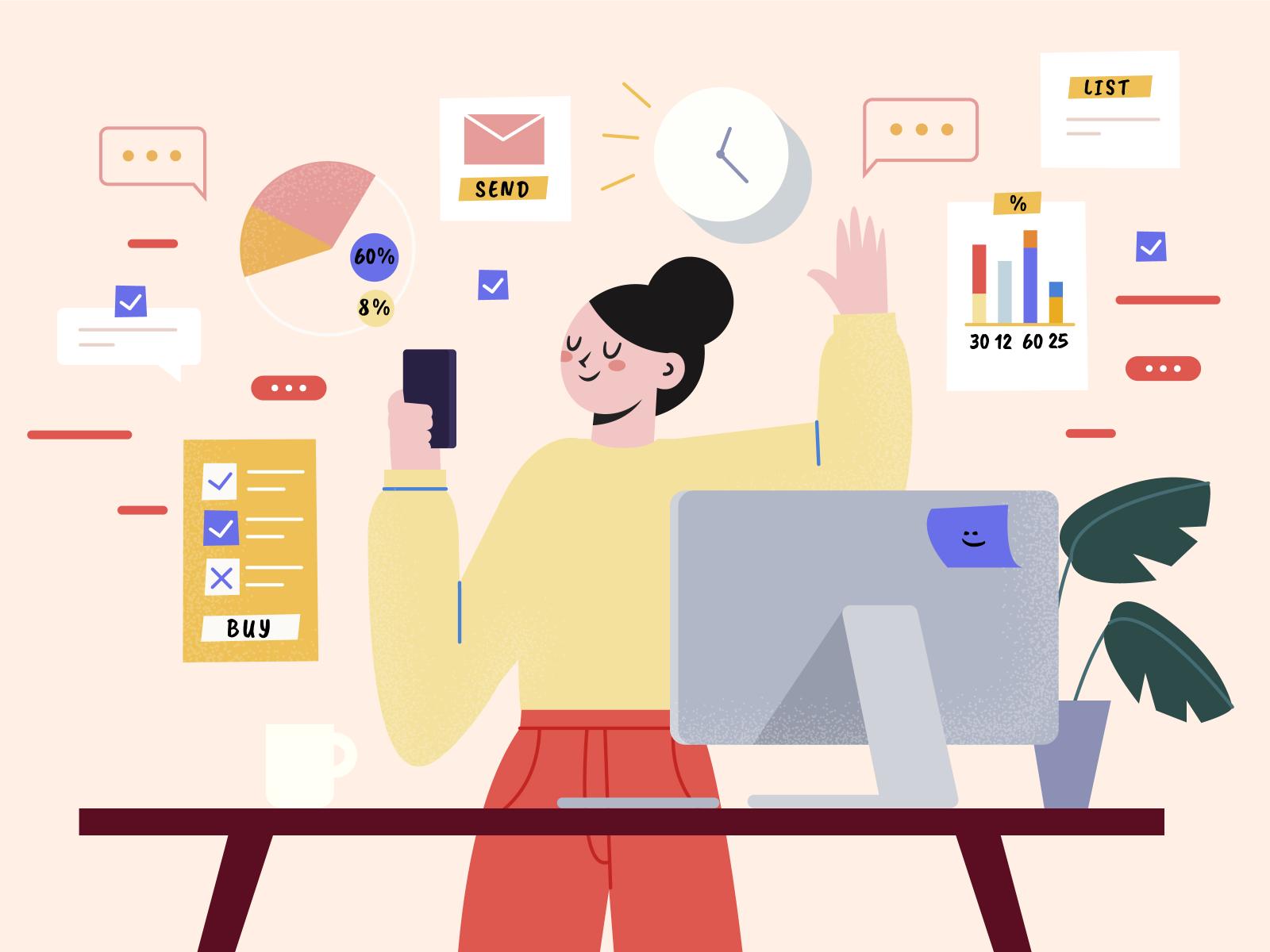 Multitasking Concept