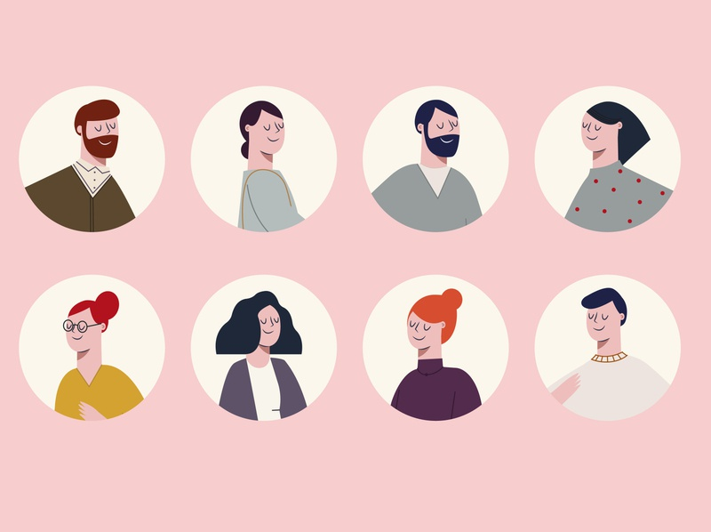 Character Collection diseño concept people friends illustration characters design