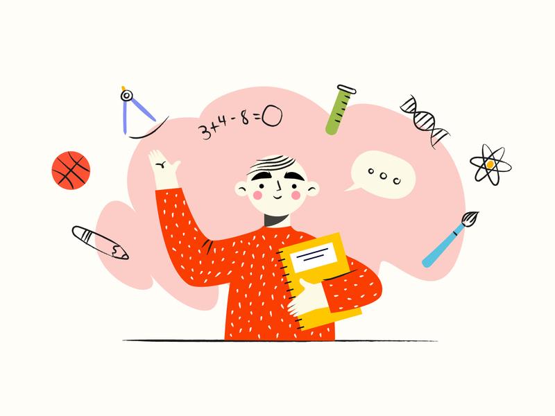 Back to School illustrator vector design characters design back to school school boy illustration hand drawn kids illustration kids
