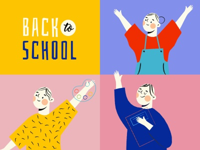 Back to School kids illustration back to school kids concept illustration characters design
