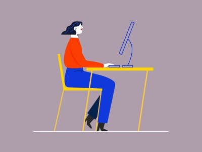 Work remote work work design idea people concept vector freelancer working women characters design