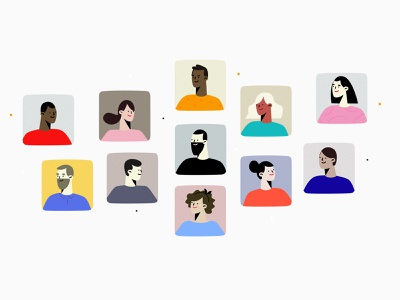 Characters styleframess styleboards animation illustrator people concepts characters avatar icons concept avatars characters design