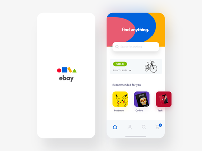 eBay Mobile App Exploration simple iphone ios ux design product design mobile application ecommerce ebay colorful clean branding ux product app minimal design ui