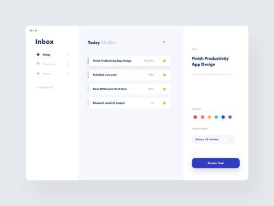 Simple Task / Productivity App - Exploration 2 app product page application desktop application task management ui design productivity app task manager web interface dashboard clean product design design ui ux minimal