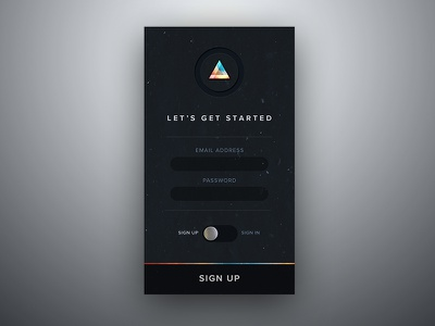 Moody Sign Up/In Screen minimal product modal signin signup login ui