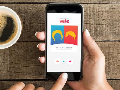 Swipe the Vote: Around the World swipe candidates donald clinton hillary trump election app tinder