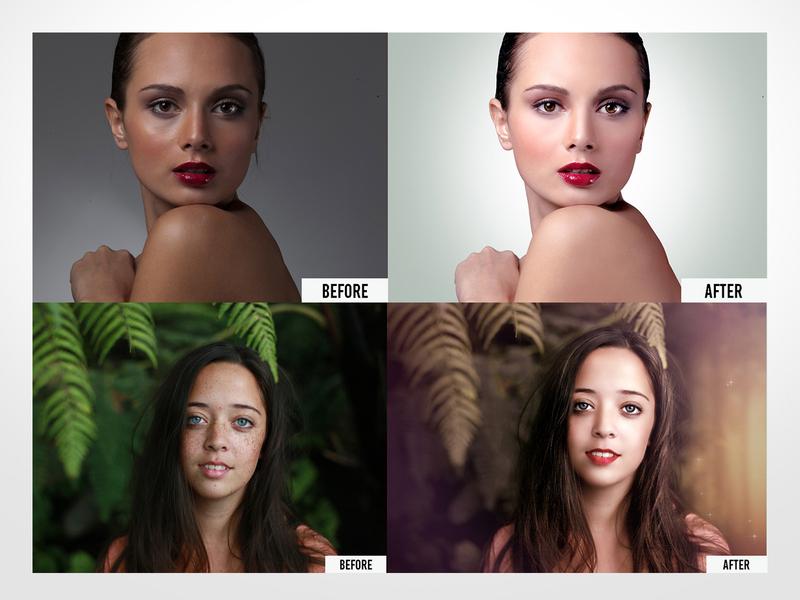 Photo Retouching (Before and After) photoshop photo retouching