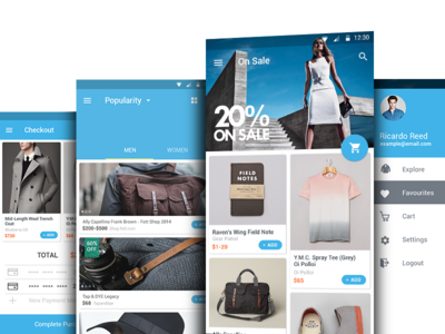 Glam Shopping Android L google material design ui store product android l android app shopping shop ecommerce tab