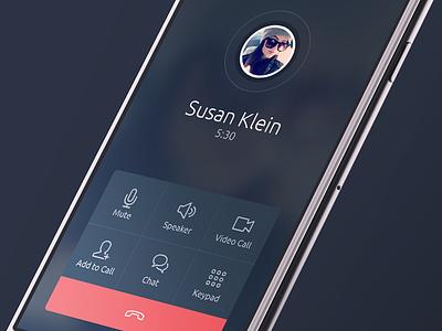 Talker Calling Screen (WIP) ui ios call caller calling chat dial messenger talk voip voice app