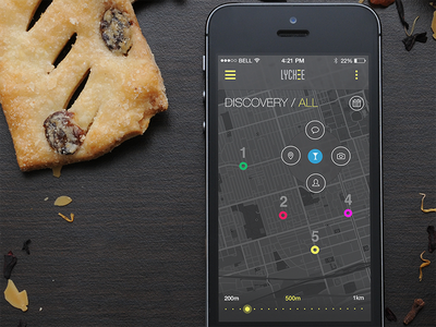 Map Pin Events Discovery map pin navigation events app ios ui