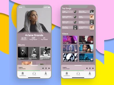UI Music App Design