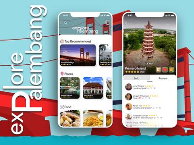 """""""Explore Palembang"""" UI Design"""