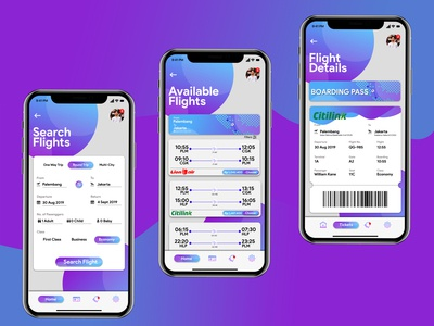 Booking Flight App UI