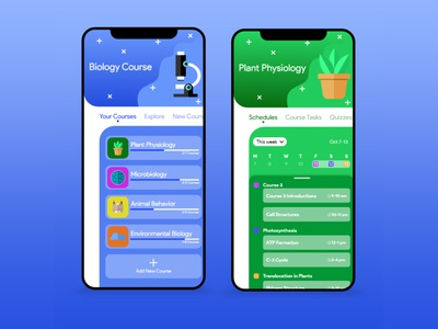 Course App Design Concept