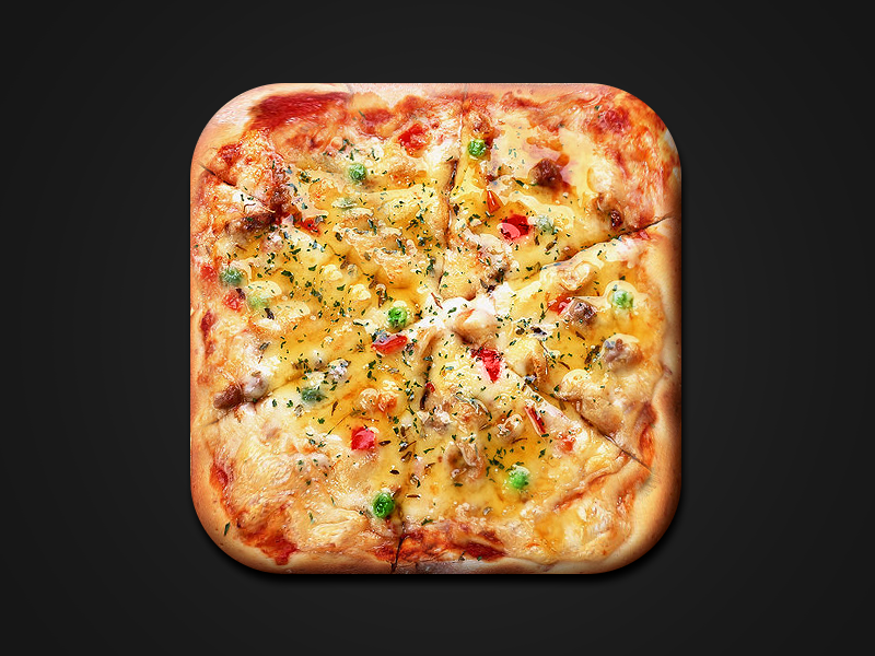 Pizza iOS Icon ios pizza icon app boris wick