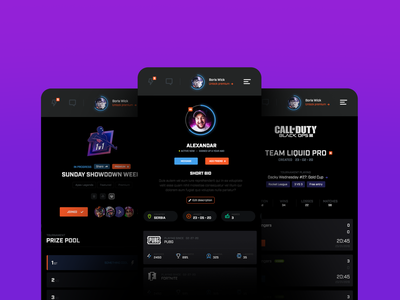 Dashboard | responsive screens games ragebite competitive dashboard ux ui design mobile responsive esports gaming