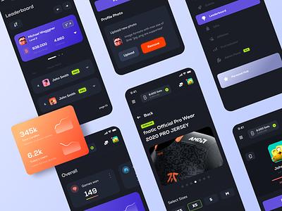 Crypto Dashboard responsive screens gaming esports dazzardo bitcoin ragebite ui shop dashboad wallet crypto