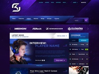 SK Gaming eSport Web template