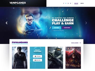 VampGamer | eSports betting platform for Gamers - Landing Page theme wordpress clan landingpage betting development app wesbite platform gaming esports