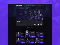 eSports team page