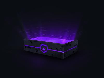 Loot box - Open app platform esports modern design chest gaming lootbox
