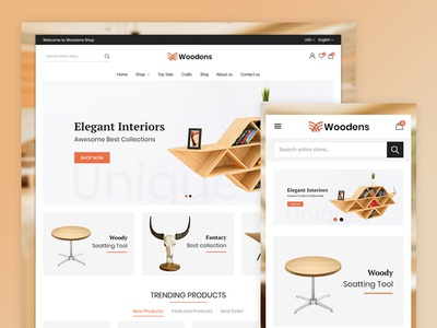 Woodens Furniture Store Template