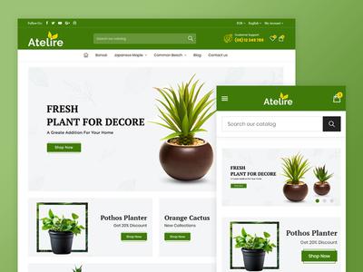Atelier Plant Nursery & Garden Store Template