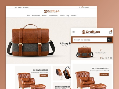 CraftLeo - Leather Fashions Store Template