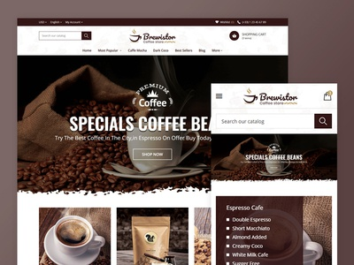 Brewistor - Coffee Store Template