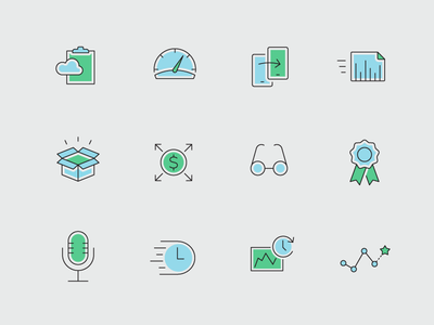 Icons set - part 1 consistent outline medicine business case study presentation flat icon set icons
