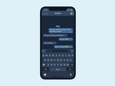 Double check mark telegram messenger ios competition chat app animation