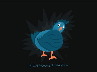 A suspicious pidgeon