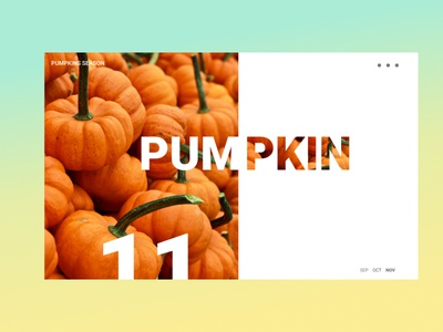 PUMPKIN design animation ui typography illustration branding
