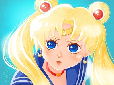 Sailor Moon Fan Art portrait illustration cgart digitalartist anime cuteart cute kawai cartoon character