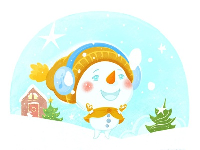 Snowman fantasy snowman christmas illustration cgart cartoon cuteart digitalartist cute characterdesign character