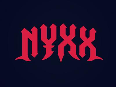 Nyxx identity lettering typography logo logotype letter