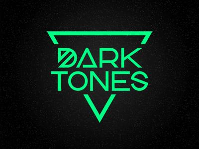 Darktones identity minimal geometric darktones logo