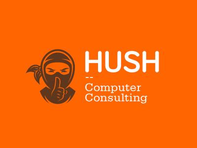 HUSH Computer Consulting logo identity