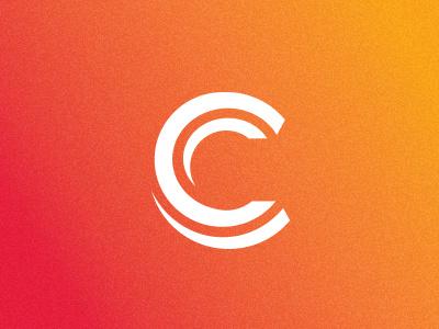 Solar Management & Finance brand mark identity logo c letter c typography gradient solar sun hot fire