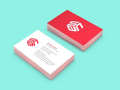 SCA Identity and Business Card clean minimal design cards business stationary logo design logo branding identity business card warm red