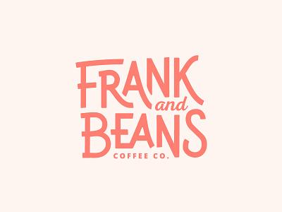 Frank and Beans branding identity logo coffee beans frank