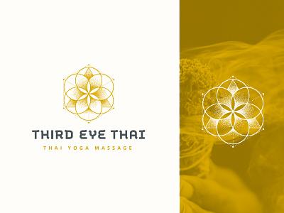 Third Eye Thai spirituality sacred geometry om design mark branding geometry identity logo massage