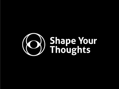 Shape Your Thoughts Logo sacredgeometry geometry design mark logo identity