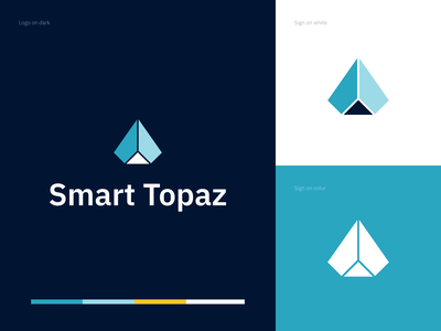 Smart Topaz - logo logodesign software it diamond topaz technology elegant logo